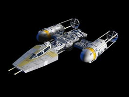 Y-wing Assault Starfighter 3d preview
