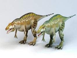Acrocanthosaurus Dinosaur 3d model preview
