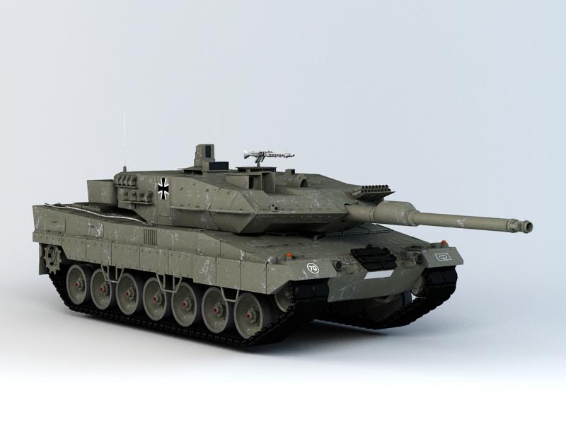 Leopard 2 Tank 3d rendering