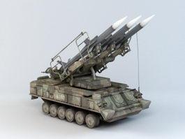 2K12 Kub Missile 3d model preview