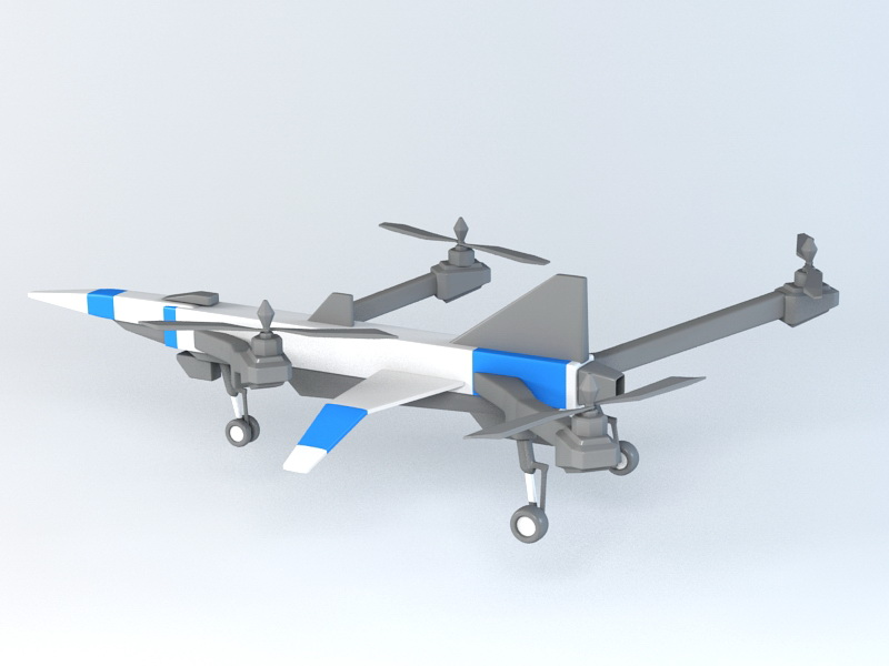 Toy Drone 3d rendering