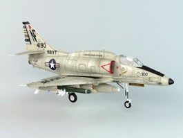 A-4 Skyhawk Aircraft 3d preview