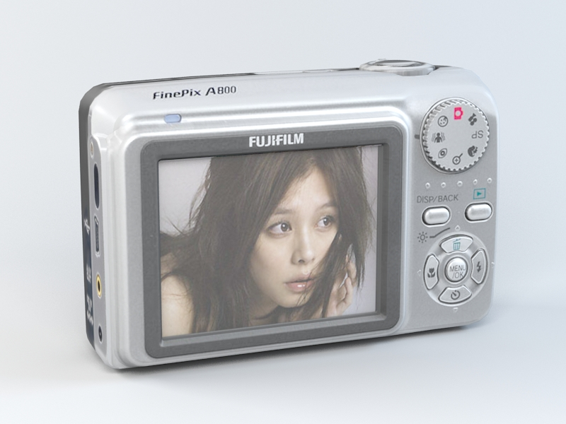 FUJIFILM FinePix A800 3d rendering