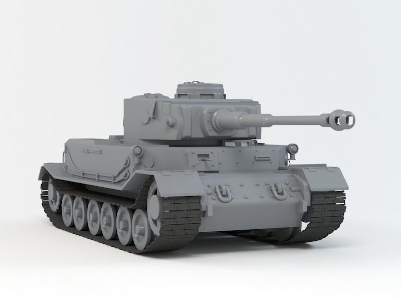 VK 4501 (P) Tiger 3d rendering