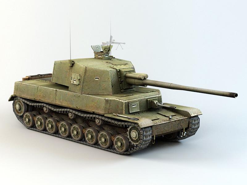 Type 5 Chi-Ri Medium Tank 3d rendering
