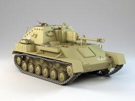 SU-76M Tank Destroyer 3d preview
