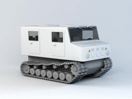 Tracked Rescue Vehicle 3d preview