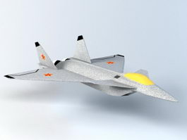 J-24 Fighter Aircraft 3d model preview