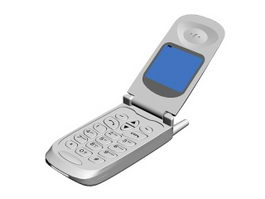 Old Flip Phone 3d preview