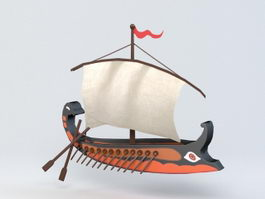 Cartoon Ship 3d preview