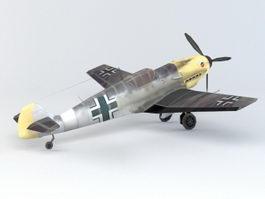 WW2 BF 109 Fighter 3D Model