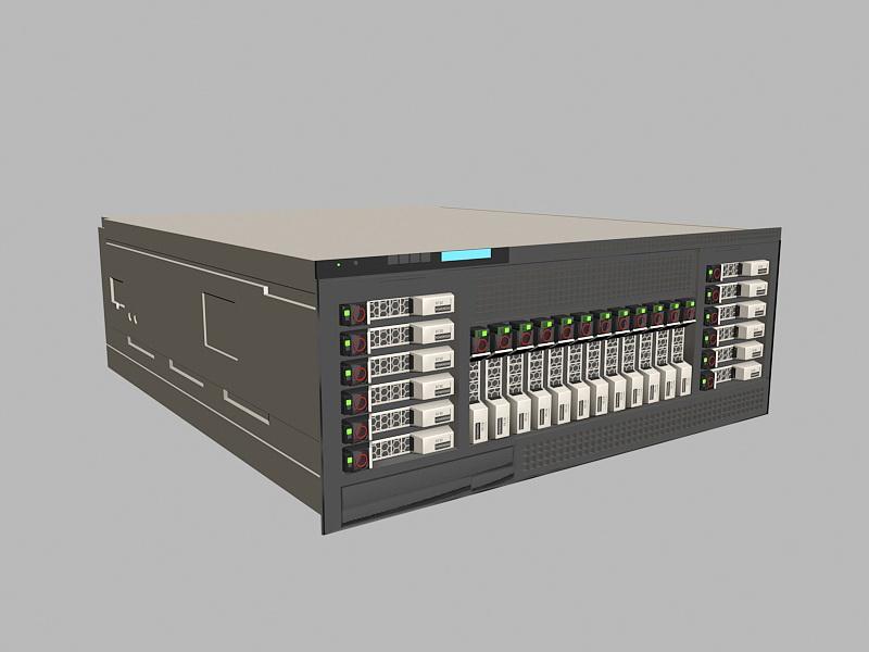 Dell PowerEdge Server 3d rendering