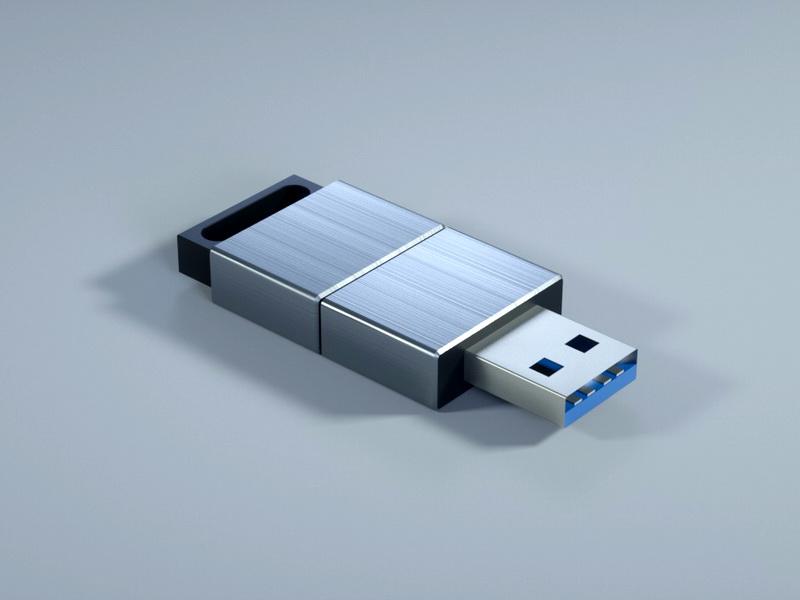 USB Drive 3d rendering