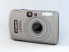 Canon Digital IXUS 950 Camera 3d model preview