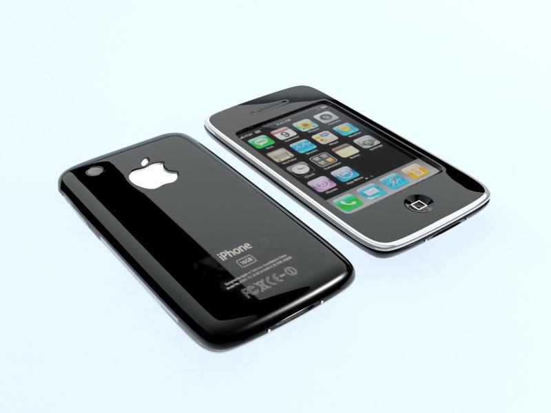 iPhone 6 Black 3d rendering