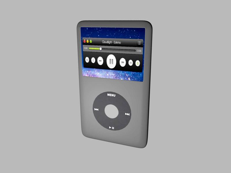 iPod Classic 3d rendering