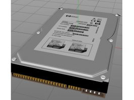 HP Hard Drive 3d model preview