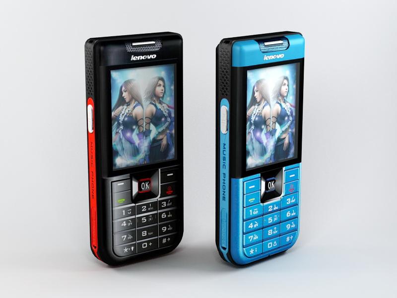 Lenovo i908 Phone 3d rendering