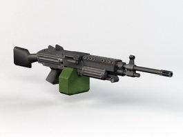 M249 SAW Machine Gun 3d model preview