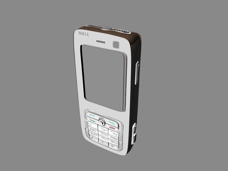 Nokia N73 3d rendering