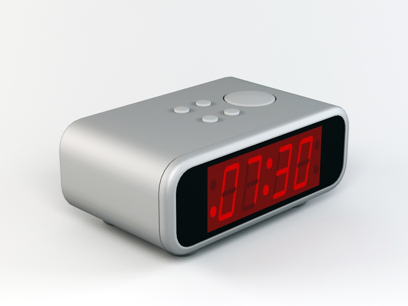 Digital Alarm Clock 3d rendering