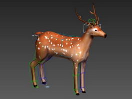 Low Poly Deer Rig 3d preview