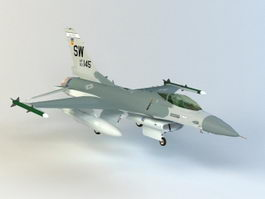 General Dynamics F-16 Fighting Falcon 3d preview