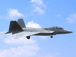 F-22 American Fighter Aircraft 3d preview