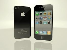 iPhone 4 Black 3d preview