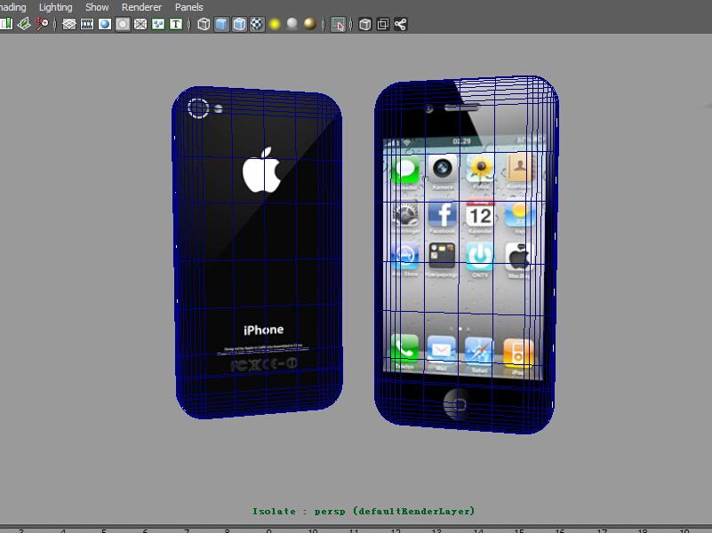iPhone 4 Black 3d rendering