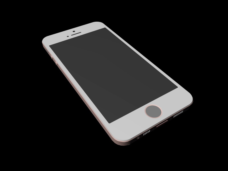 iPhone 5S Pink 3d rendering