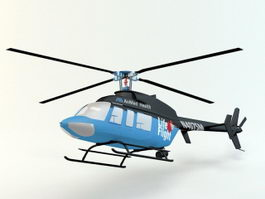 Bell 407 Helicopter 3d preview