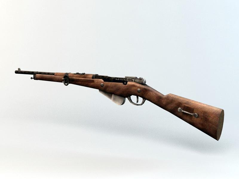 Berthier Rifle 3d rendering
