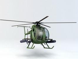 AH-6 Little Bird Helicopter 3d preview