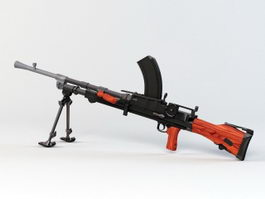 Bren Mk1 Machine Gun 3d model preview