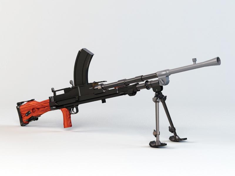Bren Mk1 Machine Gun 3d rendering