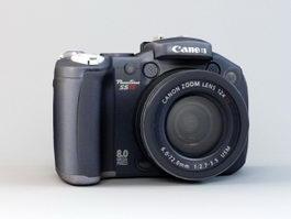 Canon PowerShot S5 IS Camera 3d preview