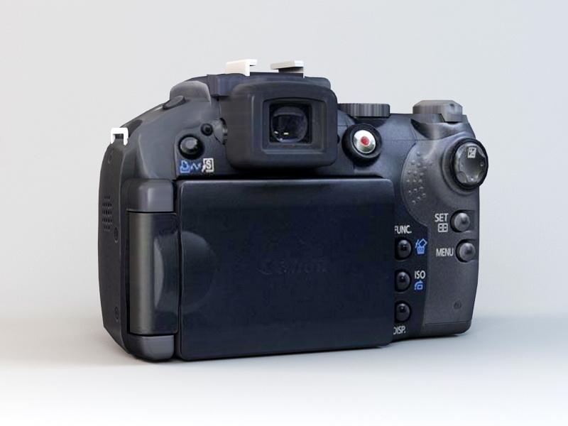 Canon PowerShot S5 IS Camera 3d rendering