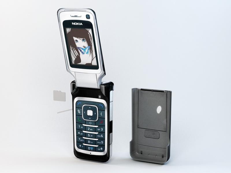 Nokia 6290 3d rendering