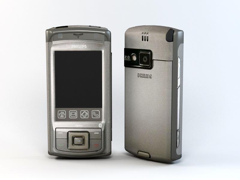 Philips Xenium 9@9M 3d rendering