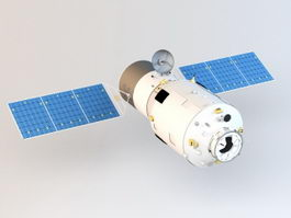 Tianzhou-1 Cargo Spaceship 3d preview