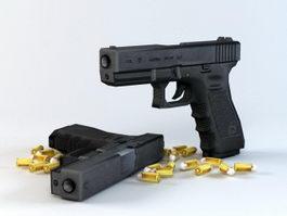 Glock-17 Pistol 3d preview
