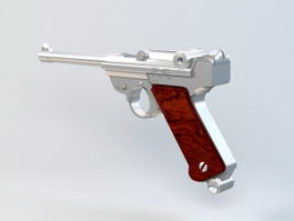 Walther P1 Pistol 3d model preview