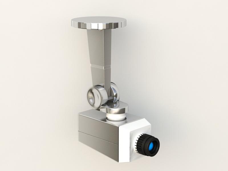 CCTV Camera 3d rendering