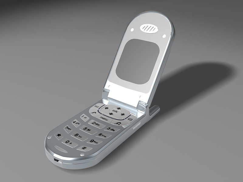 Old Cell Phone 3d rendering