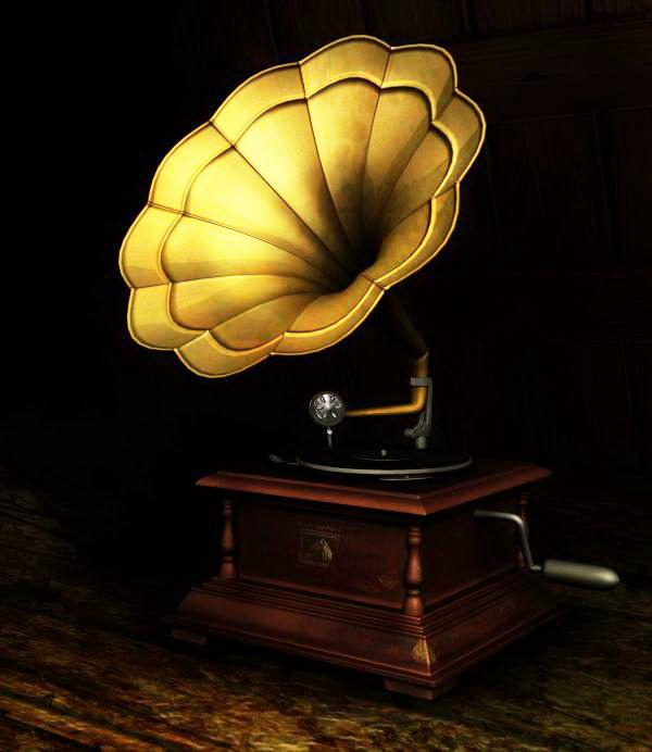 Phonograph 3d rendering