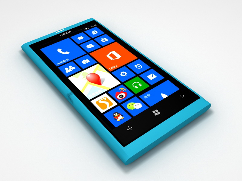 Nokia Lumia 800 3d rendering