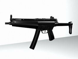 Submachine Assault Rifle 3d model preview