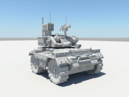 Armed Robotic Vehicle 3d model preview
