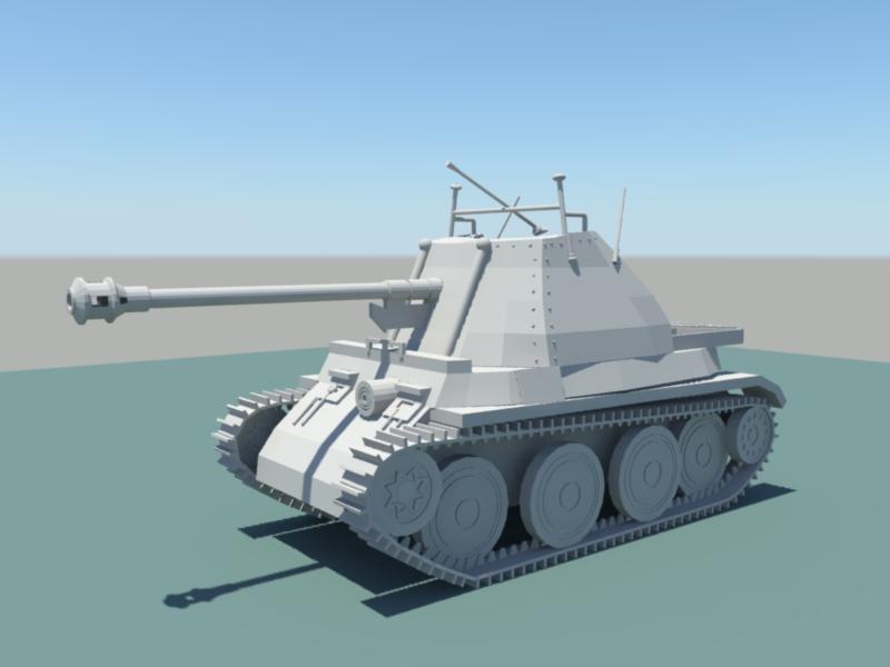 Vintage Tank 3d rendering